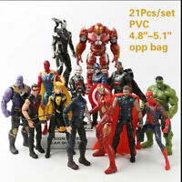 21Pcs Avengers 3 Infinity War Marvel Super Hero PVC Action Figure Toys Kids Doll