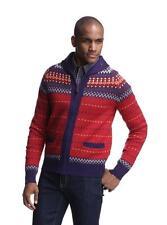 Farah Falcon 100% Wool Men's Fairisle Shawl Collar Cardigan Sweater $228 NEW M