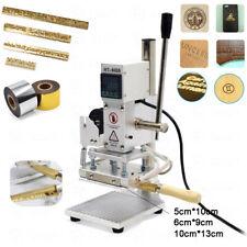 Hot Foil Stamping Machine Brass Letter Logo Printing Embosser Leather Heat Press