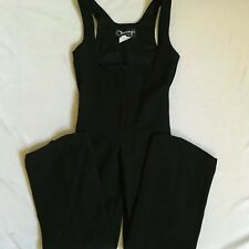 Obermeyer Womens Black Wool Blend Stirrup Ski Winter Bib Pants Zipper Front 12R