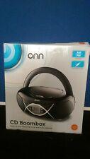 ONN CD BoomBox AM/FM Radio Black