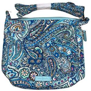Vera Bradley DAISY DOT PAISLEY Carson Mini Hobo Crossbody Bag Blue Purse NWT