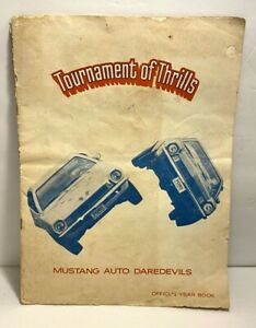 1973 TOURNAMENT OF THRILLS MUSTANG AUTO DAREDEVILS YEAR BOOK / PROGRAM GUIDE