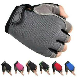 Unisex Breathable Anti-Slip Outdoor Bike Bicycle Cycling Half Finger Gloves
