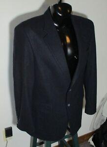 Men's JOHN ASHFORD Blue Wool Blend Blazer Suit Jacket Size 42L NWOT
