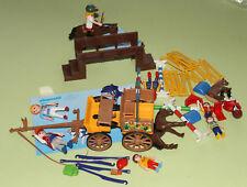 Playmobil 4186 Pferdekutsche, Planwagen, 4185 Reitplatz, 4191 Pferd mit Reiter