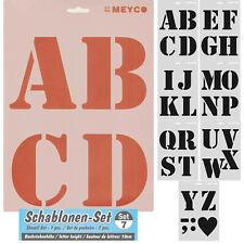 7er Set Schablonen 21x31cm große Buchstaben mit 10cm Schrifthöhe