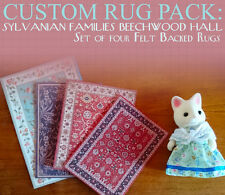 FOUR CUSTOM RUGS for Sylvanian Families Beechwood Hall -  Calico Critters