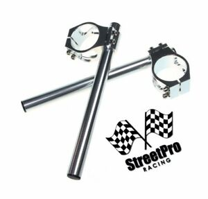 Yamaha Fzr 600 Fzr400 38mm Clip-On Handle Bars Billet Anodized Silver