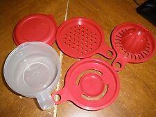 NEW Vintage Tupperware Cooks Maid Gadget Egg Separator Grater Reamer Zester Bowl
