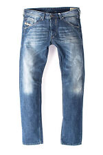 MENS DIESEL BELTHER WASH 0R83P Faded Slim Tapered Fit Jeans Denim W29 L30