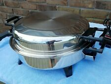 New ListingKitchen Nutrition Electric 12� Skillet Oil Heat Made By Regal Ware made Usa