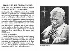 CATHOLIC HOLY CARD    PROMISE TO THE GAURDIAN ANGEL