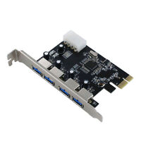 PCI-E Express Adapter to 4 Port USB 3.0 HUB Card Internal Chipset Expansion Card
