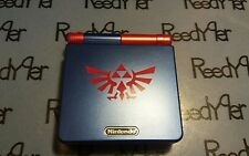 Blue & Red Zelda GameBoy Advance SP *MINT* AGS-101 Brighter Nintendo System gb