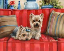 Yorkshire Terrier YORKIE 11x14 GiCLEE ART PRINT frameable DIRECT FROM ARTIST