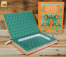 Hollow Book Safe - Greek Myths - Orange Leather Bound Book Safe