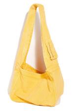 Free People We The Free Oversized Denim Sling Bag Washed Yellow NWOT $68