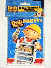 NEW BOB THE BUILDER   8 INVITATIONS  PARTY SUPPLIES
