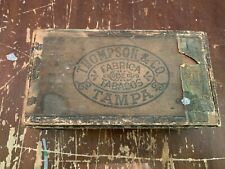 Antique Thompson & Company Ideals Wooden Cigar Box Tampa Florida