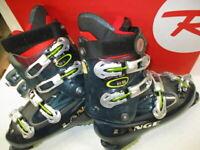 ROSSIGNOL Alltrack 90 Alpine Ski Boots BLACK Size 26.5. RBG3160. Used. (JR)