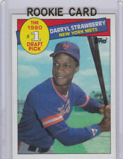 DARRYL STRAWBERRY 1985 Topps NEW YORK METS ROOKIE CARD Baseball Draft Pick RC!
