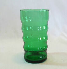 "Anchor Hocking Forest Green Wave Ridge Flat 10 oz 4 5/8"" Water Tumbler(s)"