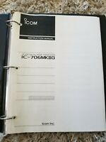 Original Vintage ICOM IC-706MKIIG Instruction Manual in binder