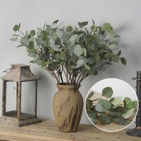 Artificial Fake Leaf Eucalyptus Green Plant Plastic Flower Nordic Home DIY Decor