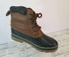 North Pass Leather Duck Boots Womens Sz 8 Water Proof Steel Shank Blue