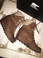 Sorel Womens Size 9 /UK 40 Leather Wedge Boots Camel