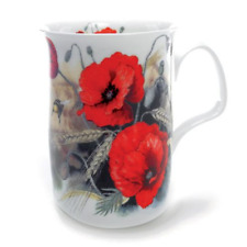 Roy Kirkham Traditional Red Poppy Bone China Mug Tea Coffee Drink Kitchen