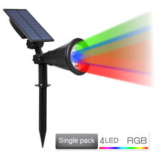 4LED Solar Garden Multicolor Lamp Spot Light Outdoor Lawn Landscape Spotlight