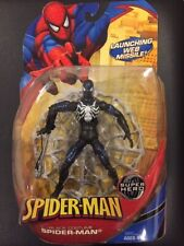 SPIDER-MAN BLACK COSTUME FIGURE SUPER HERO MIB HASBRO MARVEL