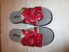 Alegria Hula HUL-105 sandals heels sz 40 leather fuchsia classy NWOB New flower