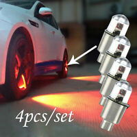 4X Car Motorcycle Bike LED Flashing Neon Wheel Tire Tyre Valve Dust Cap Lights