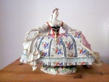 Figur Porzellanfigur höfische Dame Frau Ackermann&Fritze Bienenkorbmarke