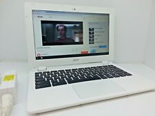 "Acer Chromebook CB3-111-C670 11.6"" Intel N2830 2.41GHz 2GB 16GB SSD White Laptop"