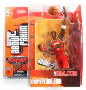 2003 McFarlane Shareef Abdur-Rahim Series 5 Basketball Figure ~ Hawks Red Jersey