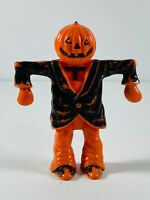 Vintage Rosbro Halloween Scarecrow Pumpkin Jack-O-Lantern Candy Holder
