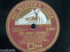 "78 Rpm 12"" Anni Frind monja's Chorus Casanova/Romance Español schauspielhauses"