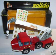 SOLIDO CAMION GRUE ROUTIERE RICHIER CIRQUE AMAR  1/50 ref 334 in box NEUF