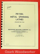 PRYIBIL Straight Bed Metal Spinning Lathes & Tools Brochure Manual 0947