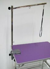 "PURPLE 38"" Emperor Fold Flat Dog Grooming Table Grooming + Arm & Noose Restraint"