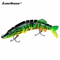 20cm multi Jointed Fishing Lure Bait Swimbait Bass Life Like Minnow Lures Pike