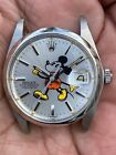 Vintage Rolex Oysterdate Precision Ref 6694 Mickey Mouse Custom Dial Year 1970