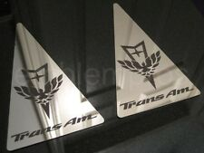 GM LICENSED, 93-02 TRANS AM SAIL PANEL OVERLAYS MIRROR STAINLESS STEEL!!!
