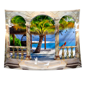 3D Tapestry Forest Nature Wall Hanging Throw Bedspread Home Art Decor Cover Mat