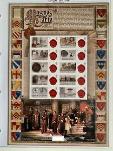 GB Magna Carta 800th Anniversary Smiler sheet MNH VGC stamps Ltd edition