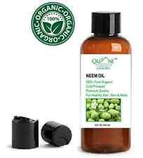 Quane Cosmetics Neem Oil Organic - Acne Eczema & Dry Skin & Scalp 4 oz DISC CAP